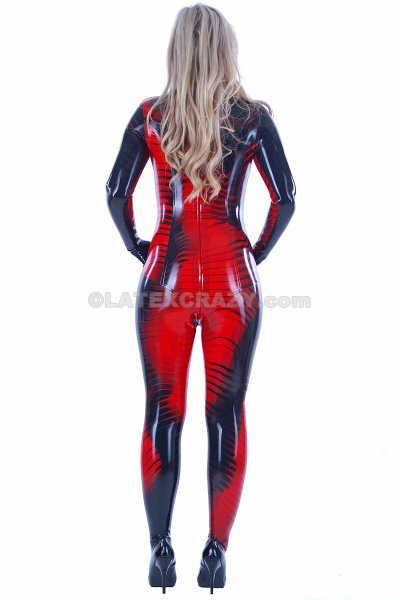 latex catsuit aus effektlatex fire glow mit express. Black Bedroom Furniture Sets. Home Design Ideas