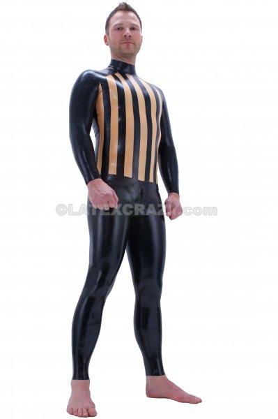 latex catsuit boris zweifarbig f r m nner auf k rperma. Black Bedroom Furniture Sets. Home Design Ideas