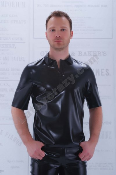 latex poloshirt ron f r m nner auf ma im latexshop. Black Bedroom Furniture Sets. Home Design Ideas